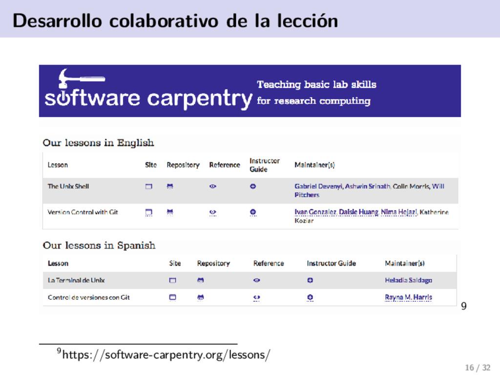Desarrollo colaborativo de la lección 9 9https:...