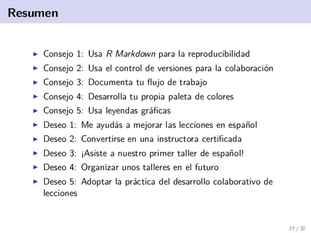 Resumen Consejo 1: Usa R Markdown para la repro...