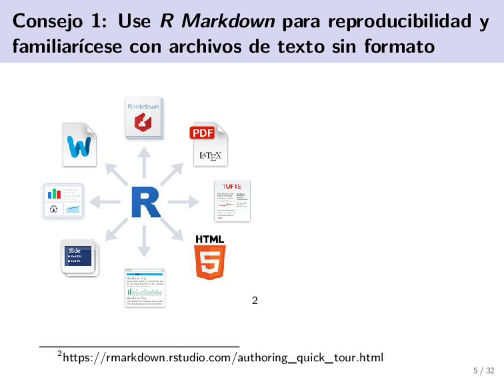 Consejo 1: Use R Markdown para reproducibilidad...