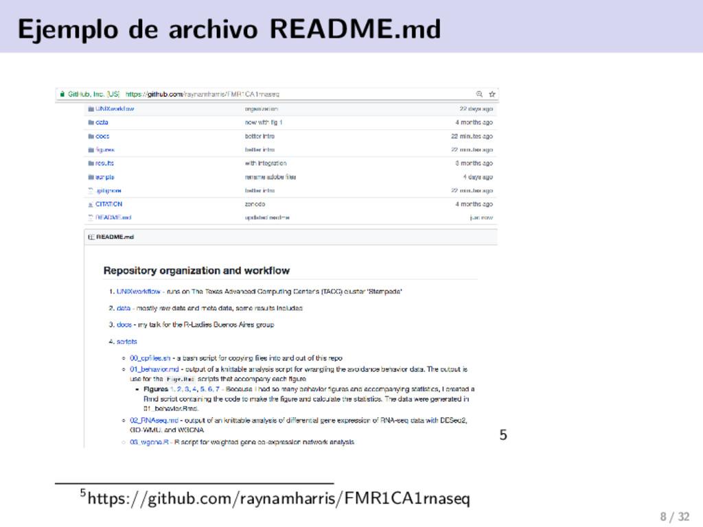 Ejemplo de archivo README.md 5 5https://github....