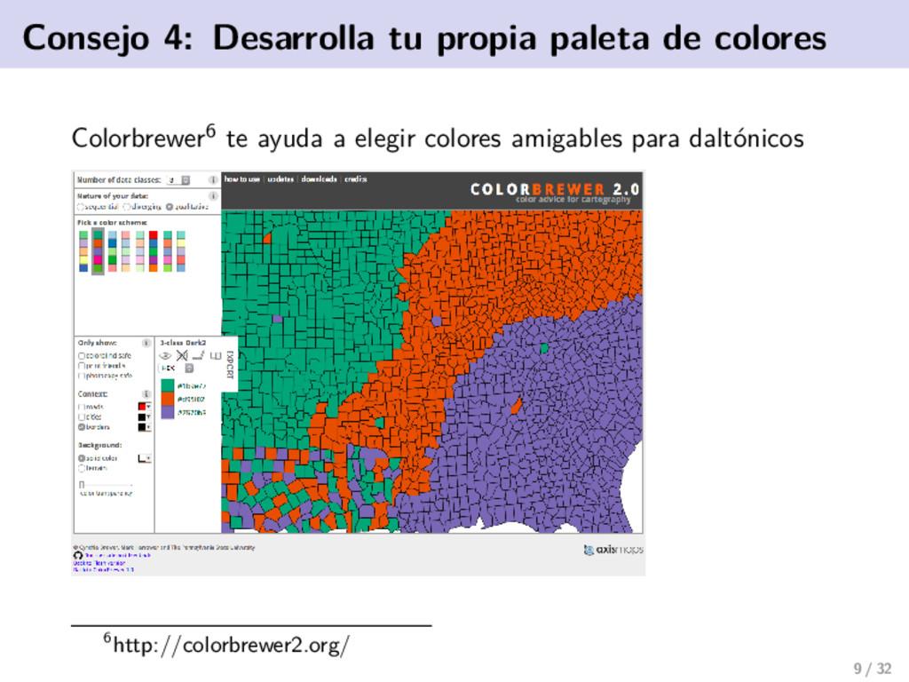 Consejo 4: Desarrolla tu propia paleta de color...