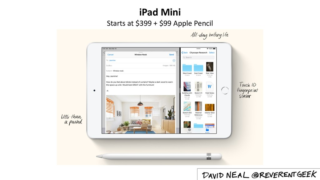 iPad Mini Starts at $399 + $99 Apple Pencil