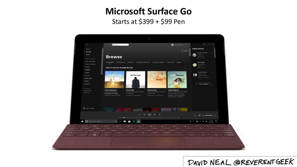 Microsoft Surface Go Starts at $399 + $99 Pen