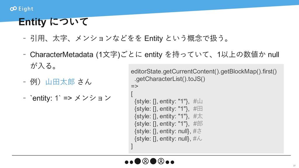Entity について - 引⽤、太字、メンションなどをを Entity という概念で扱う。 ...