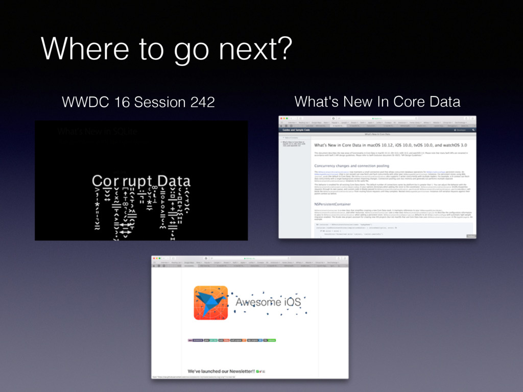 Where to go next? WWDC 16 Session 242 What's Ne...