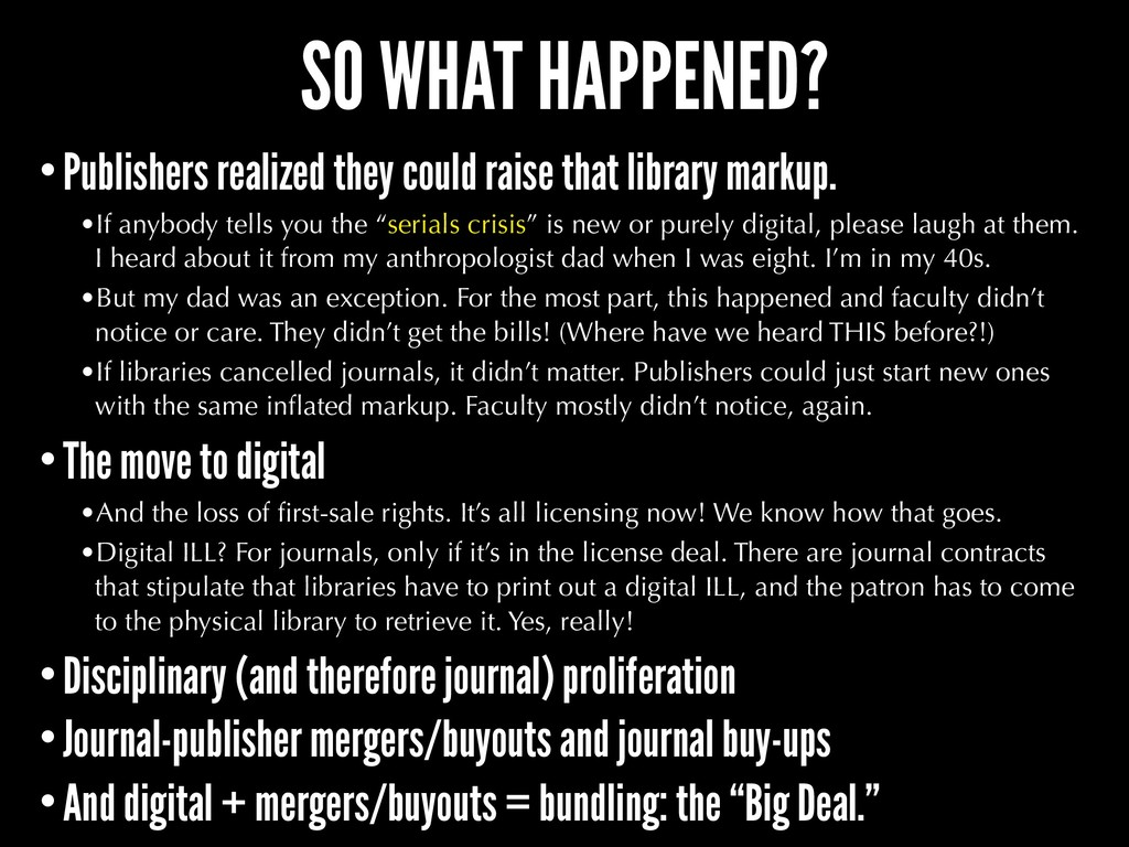 SO WHAT HAPPENED? •Publishers realized they cou...