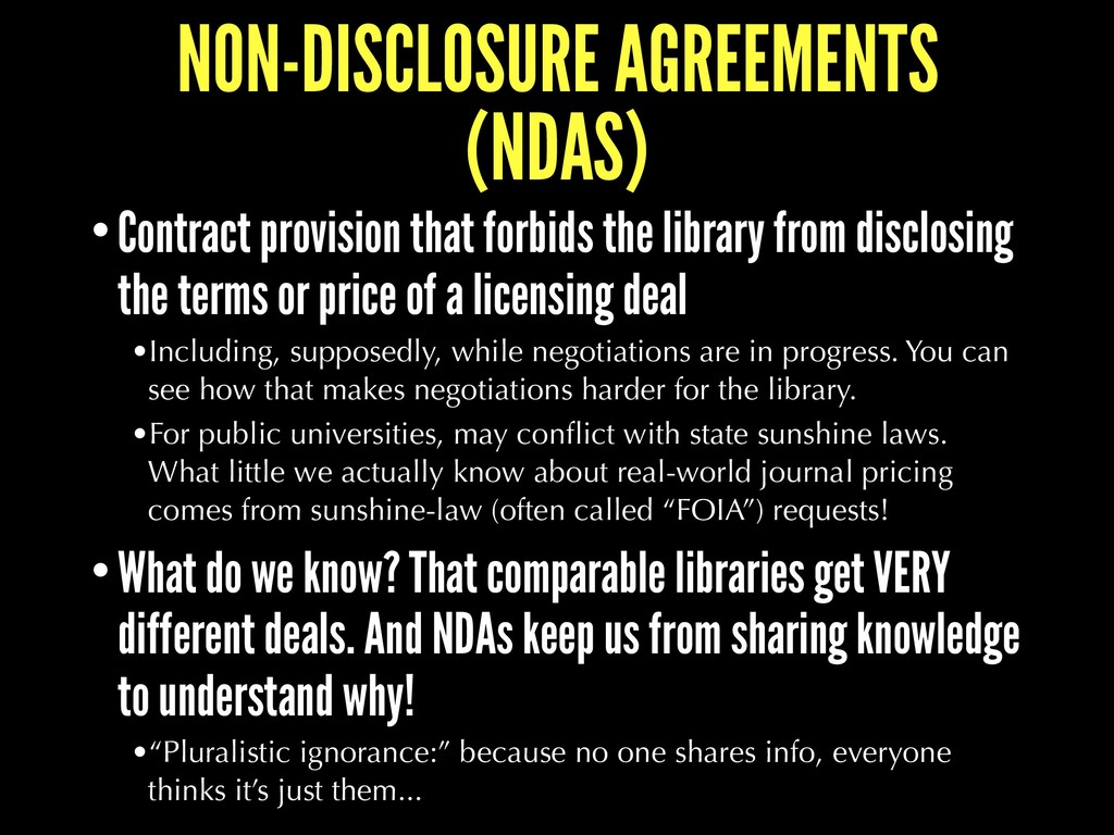 NON-DISCLOSURE AGREEMENTS (NDAS) •Contract prov...