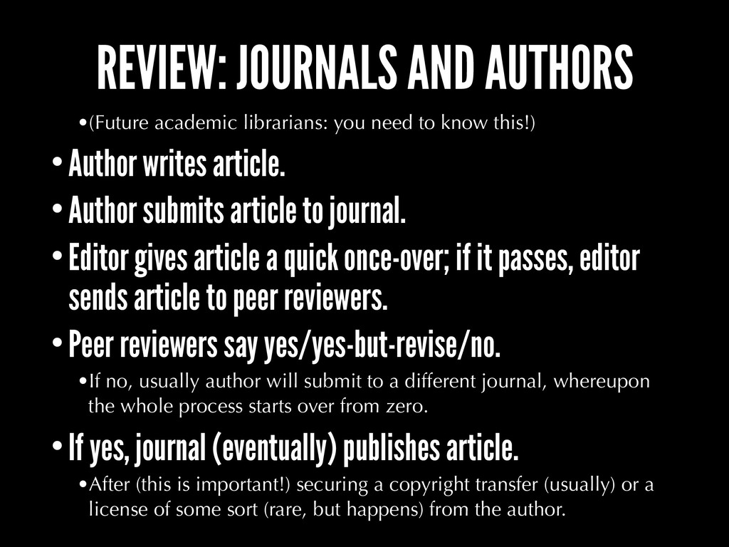 REVIEW: JOURNALS AND AUTHORS •(Future academic ...