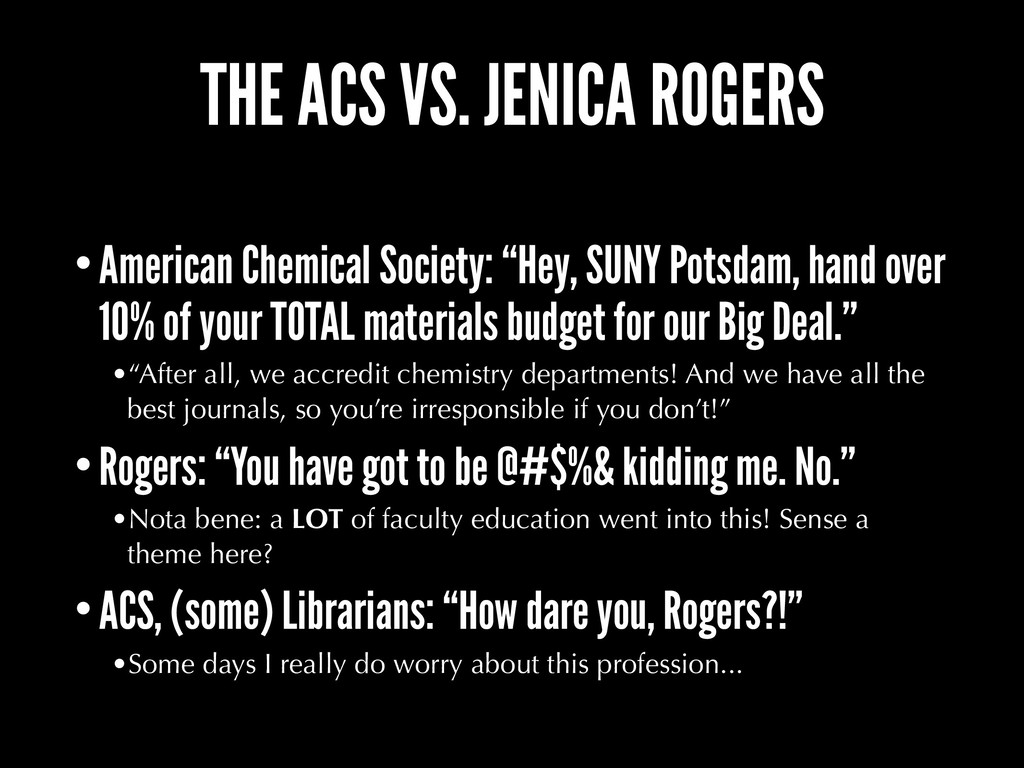THE ACS VS. JENICA ROGERS •American Chemical So...