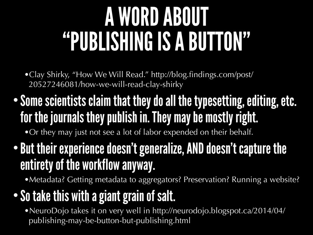 "A WORD ABOUT ""PUBLISHING IS A BUTTON"" •Clay Shi..."