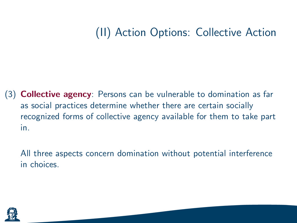(II) Action Options: Collective Action (3) Coll...