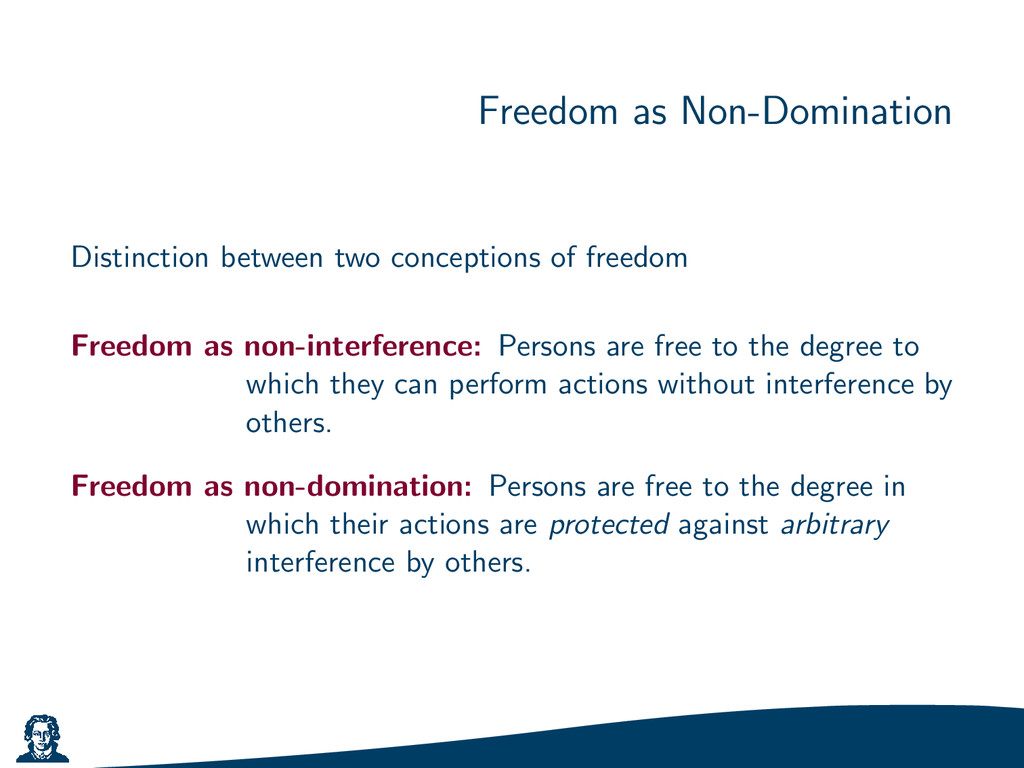 Freedom as Non-Domination Distinction between t...