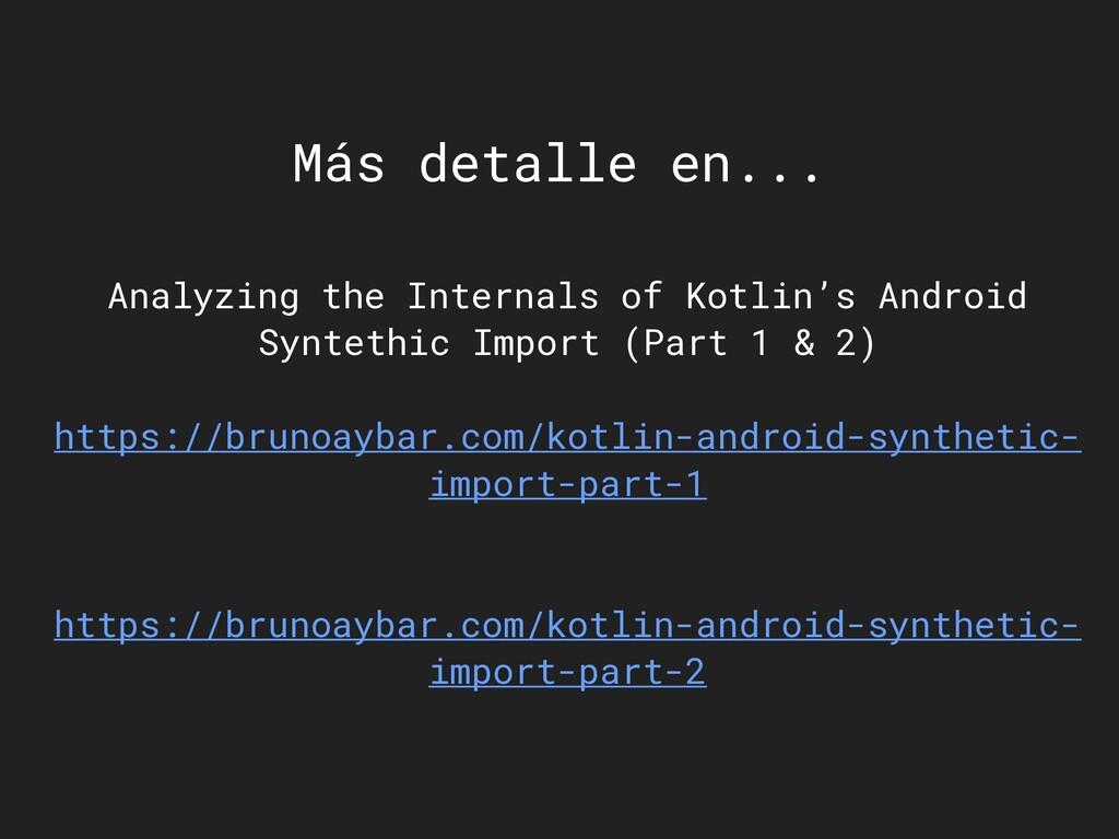 Más detalle en... Analyzing the Internals of Ko...
