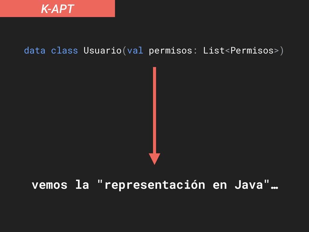 K-APT data class Usuario(val permisos: List<Per...