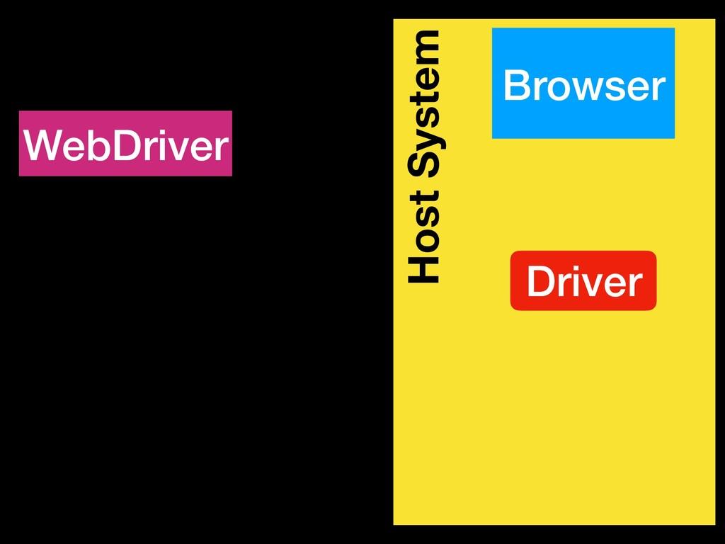 Host System Browser WebDriver Driver