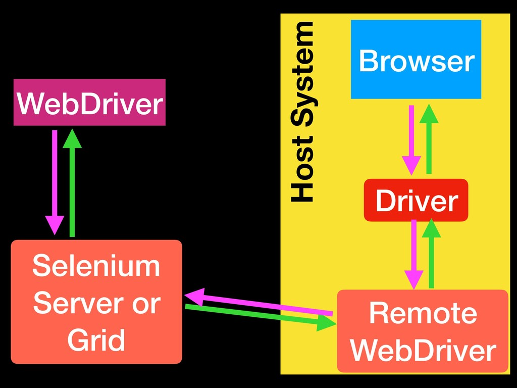Host System WebDriver Selenium Server or Grid H...