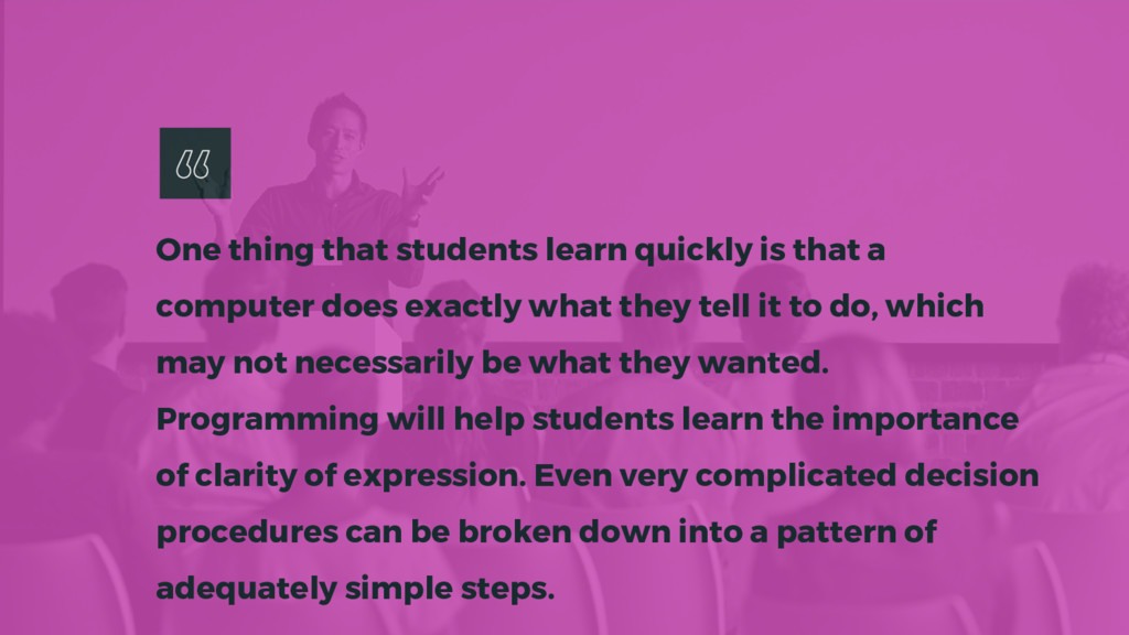 One thing that students learn quickly is that a...