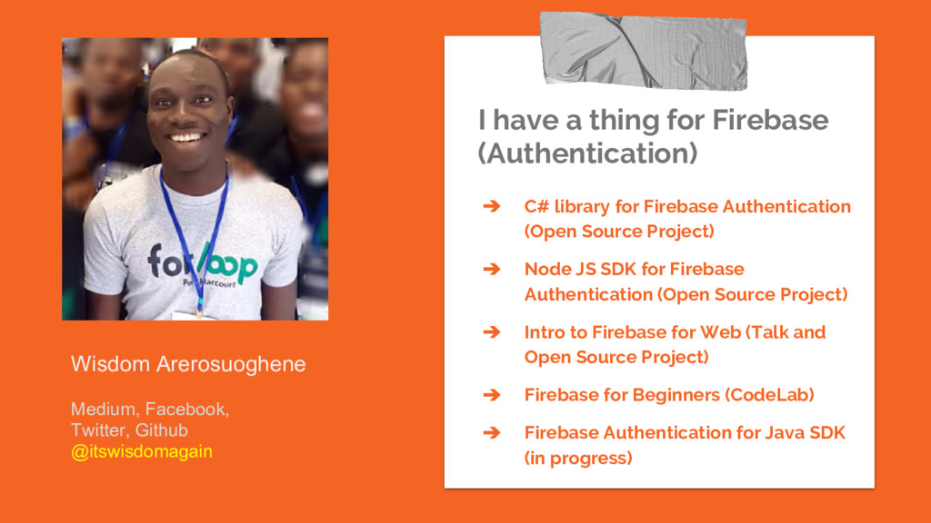 I have a thing for Firebase (Authentication) ➔ ...