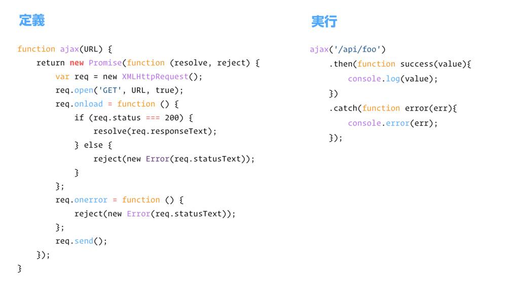 function ajax(URL) { return new Promise(functio...