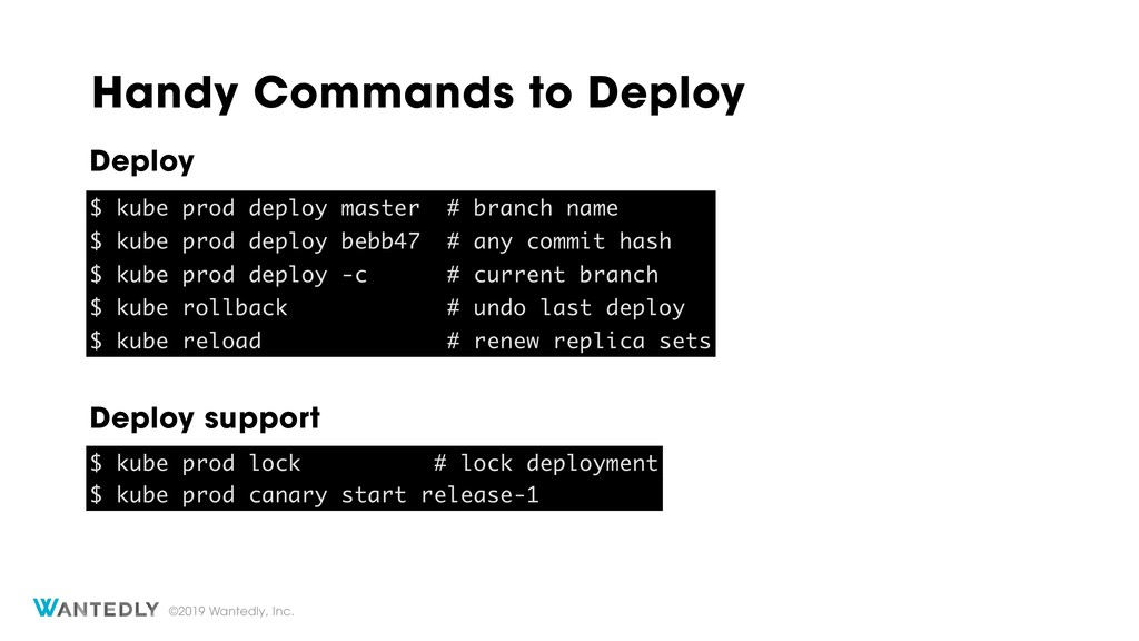 ©2019 Wantedly, Inc. Handy Commands to Deploy $...