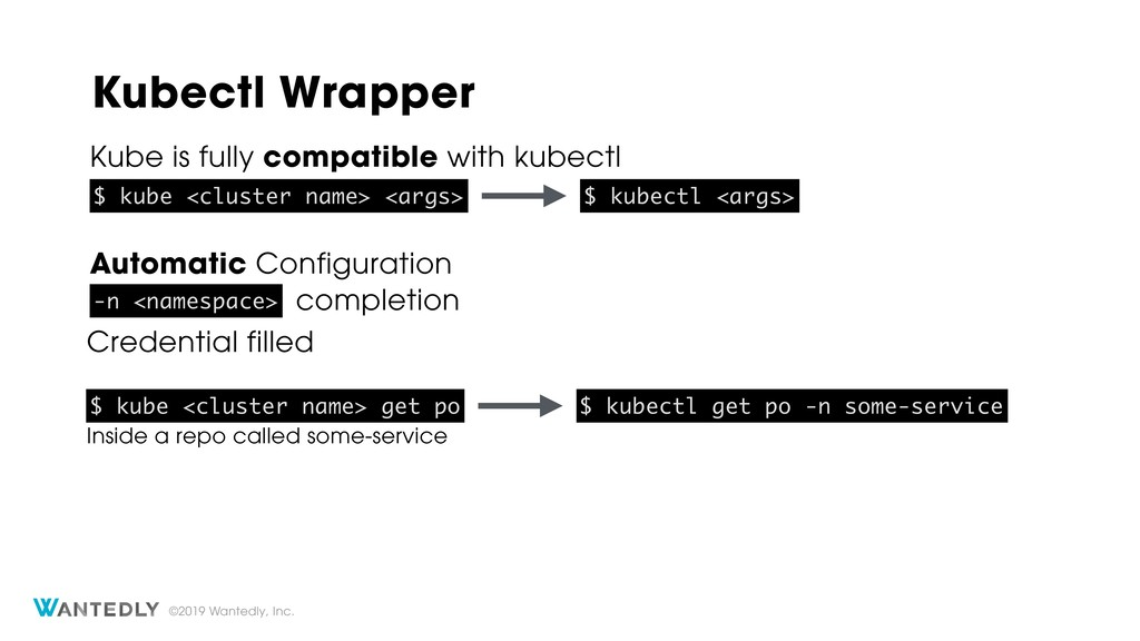 ©2019 Wantedly, Inc. Kubectl Wrapper Kube is fu...
