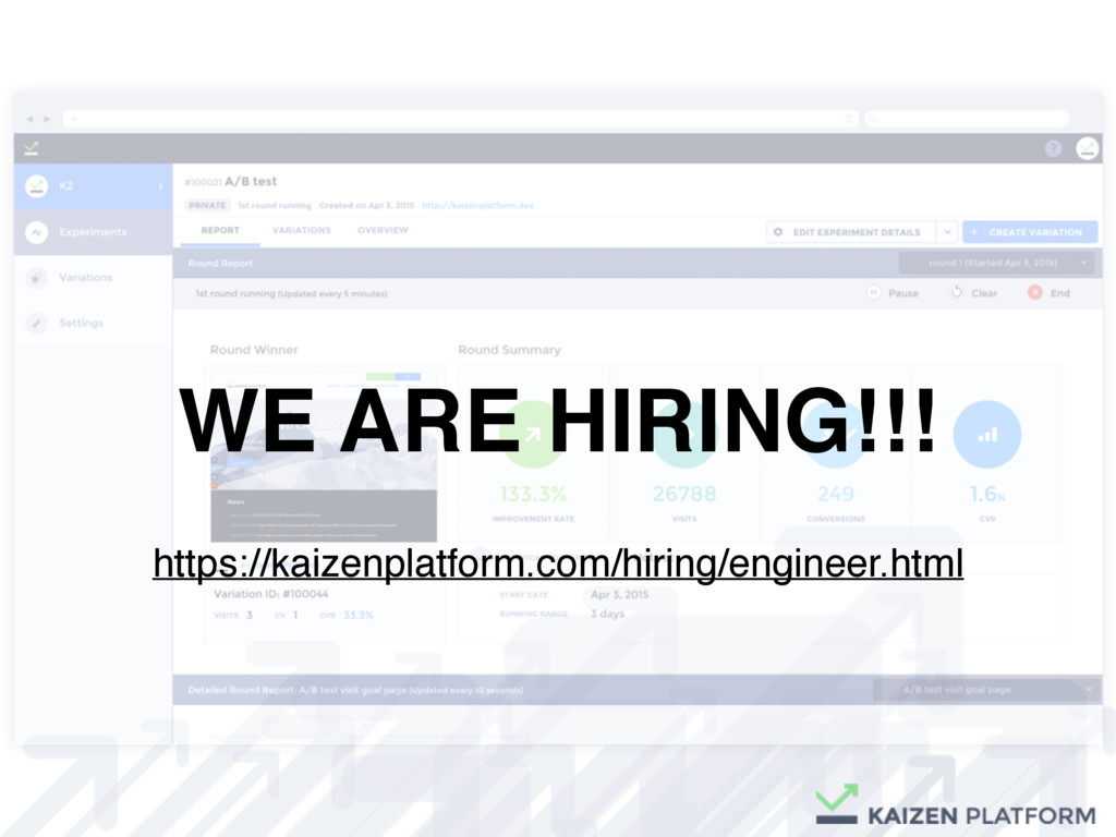 WE ARE HIRING!!! https://kaizenplatform.com/hir...
