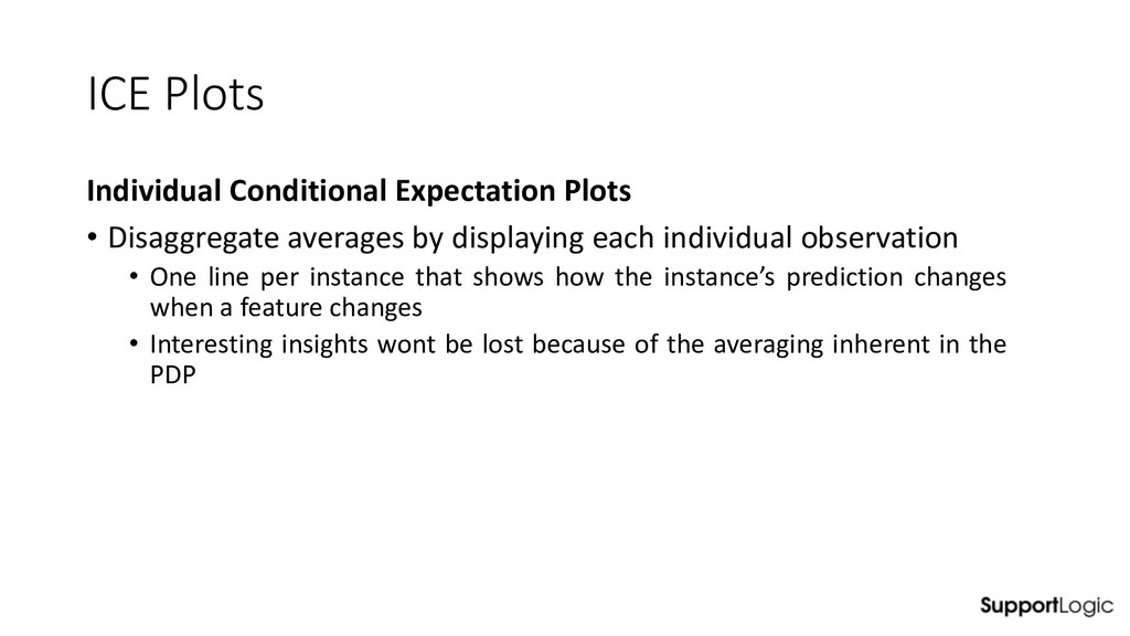 ICE Plots Individual Conditional Expectation Pl...