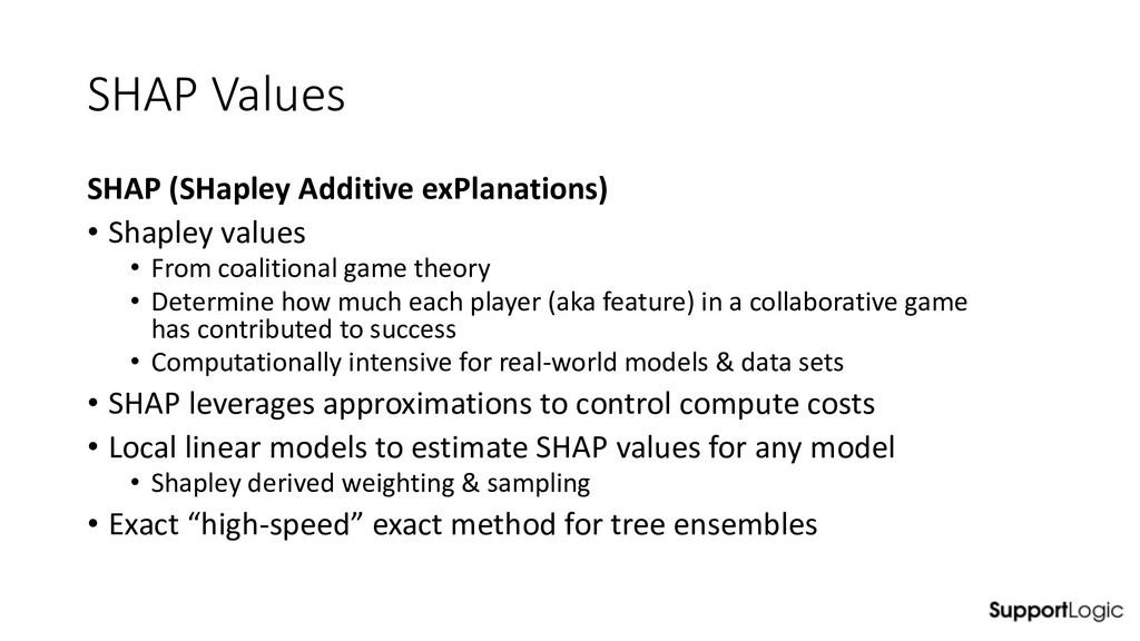SHAP Values SHAP (SHapley Additive exPlanations...