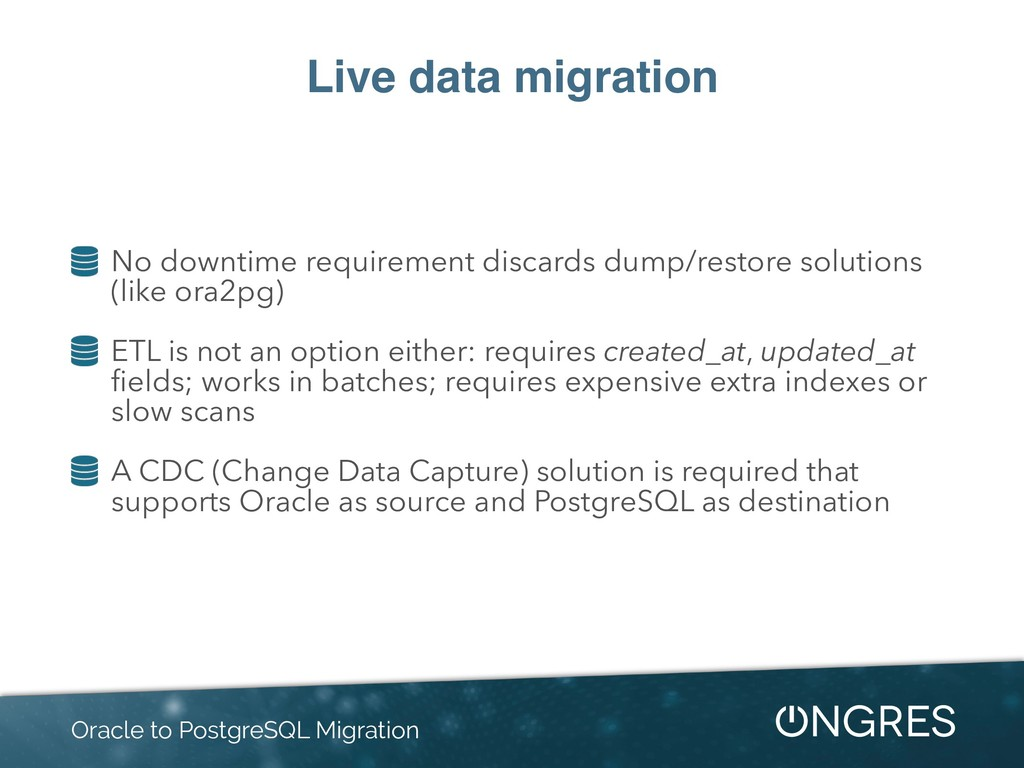 Live data migration No downtime requirement dis...