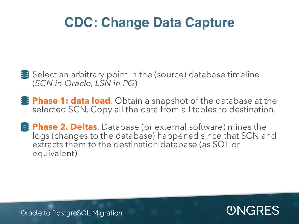 CDC: Change Data Capture Select an arbitrary po...