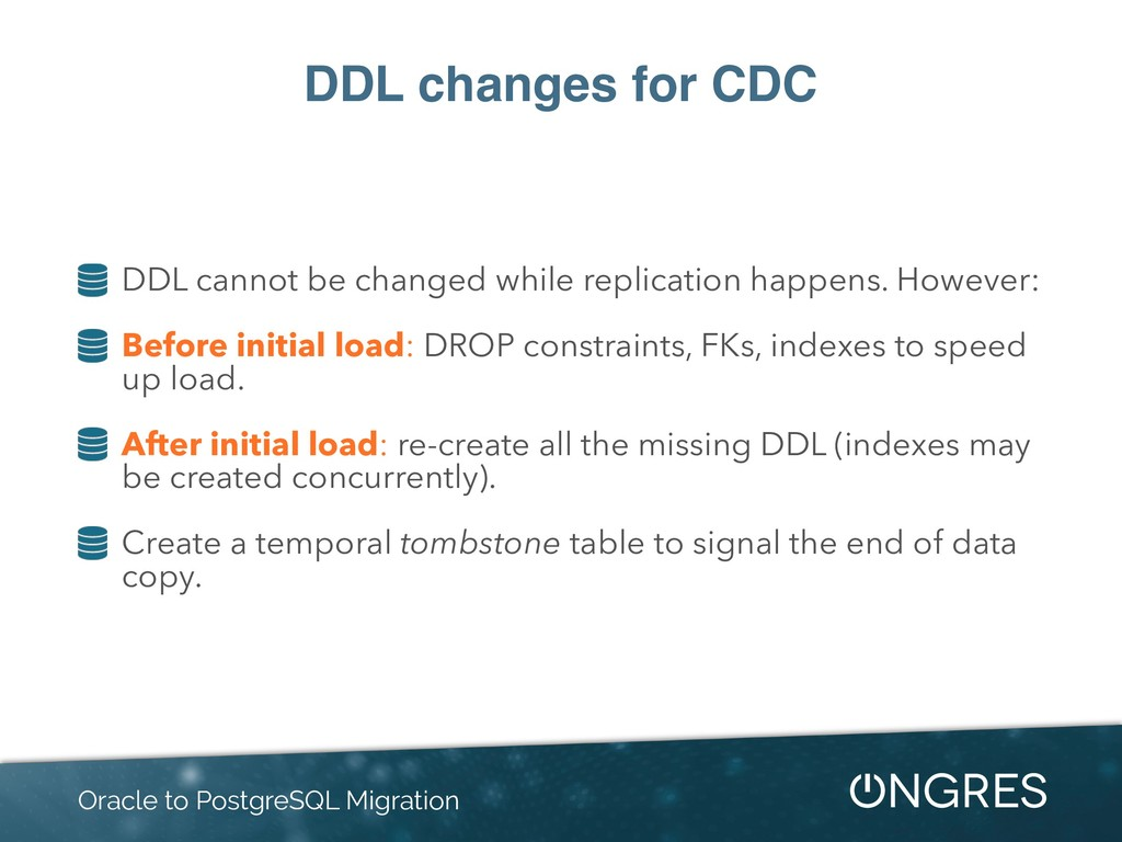 DDL changes for CDC DDL cannot be changed while...