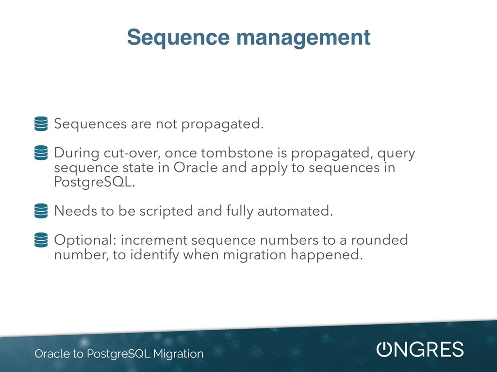 Sequence management Sequences are not propagate...