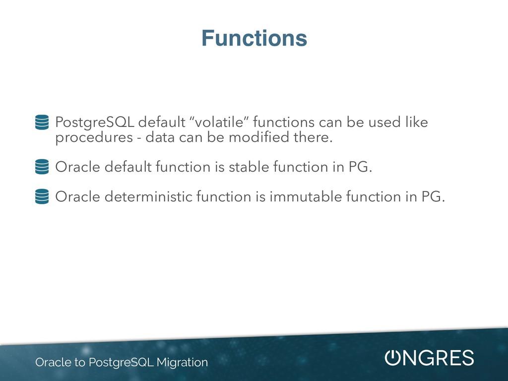 """Functions PostgreSQL default """"volatile"""" functio..."""