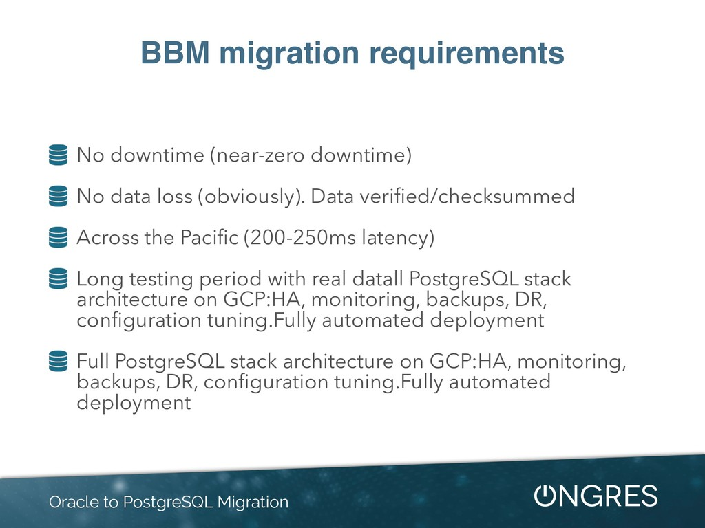 BBM migration requirements No downtime (near-ze...