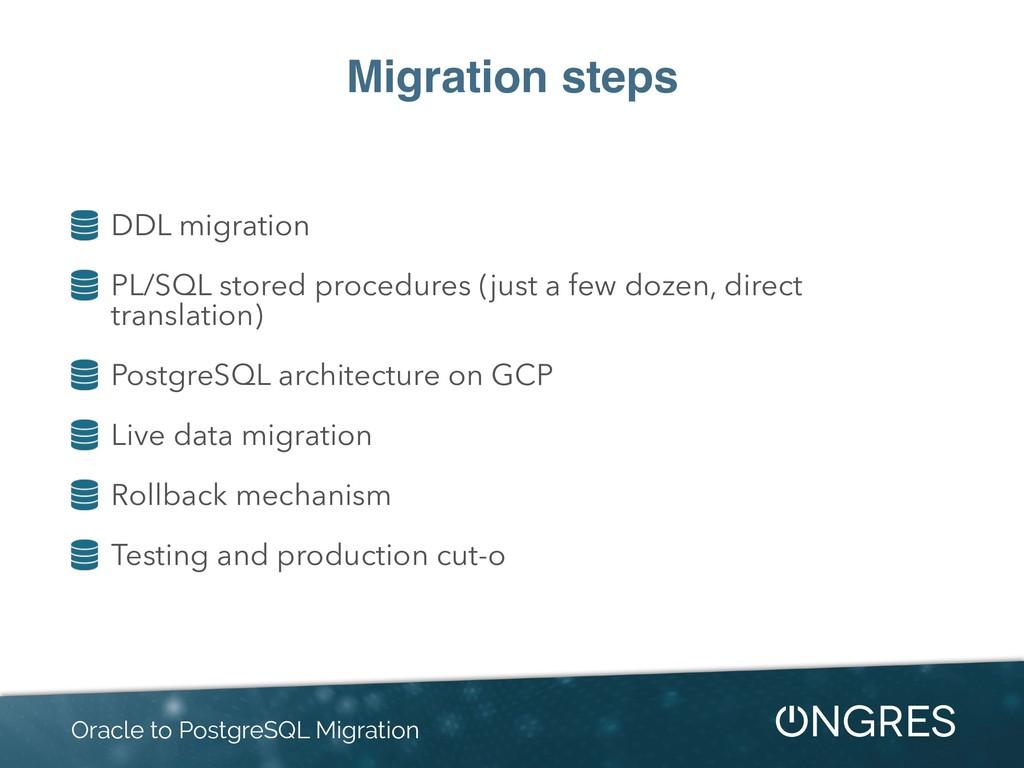Migration steps DDL migration PL/SQL stored pro...
