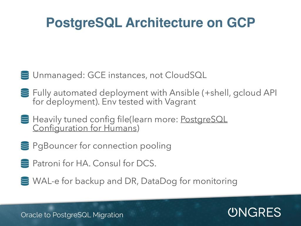 PostgreSQL Architecture on GCP Unmanaged: GCE i...