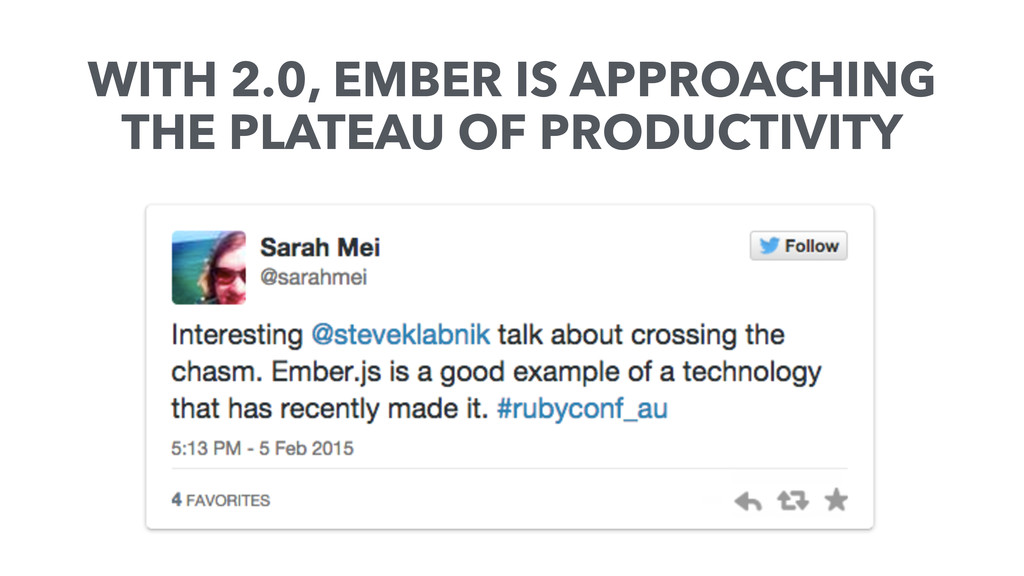 WITH 2.0, EMBER IS APPROACHING THE PLATEAU OF P...