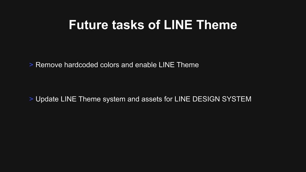 Future tasks of LINE Theme > Update LINE Theme ...
