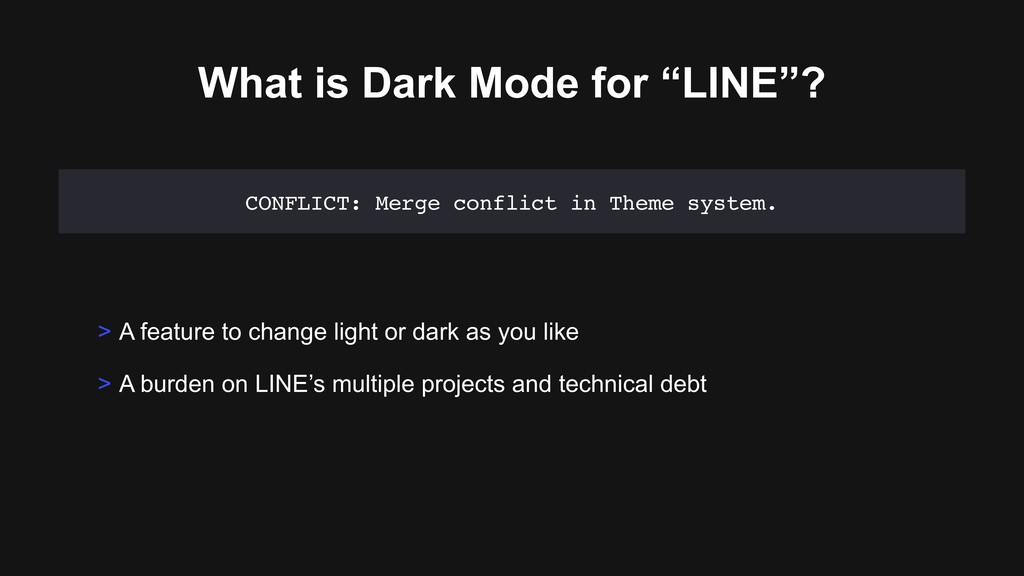 """What is Dark Mode for """"LINE""""? > A feature to ch..."""