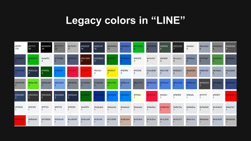 """Legacy colors in """"LINE"""""""