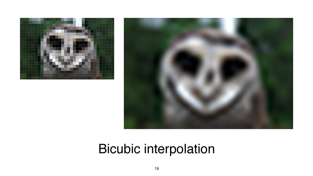 19 Bicubic interpolation