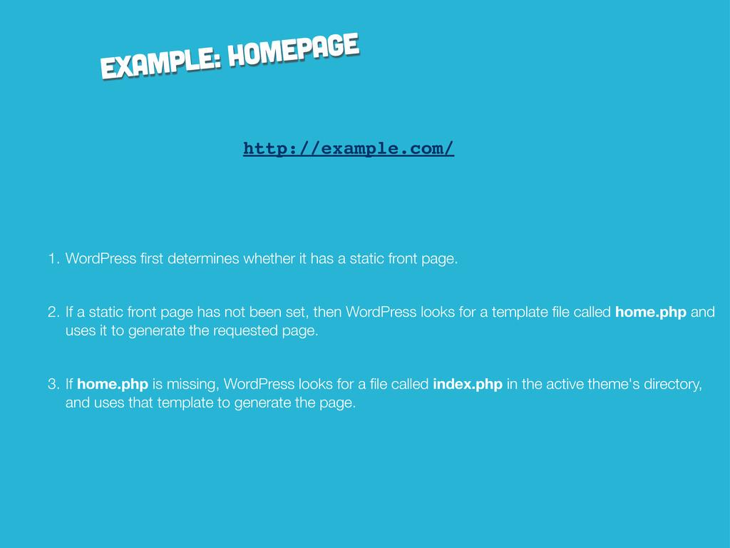 example: homepage http://example.com/ 1. WordPr...