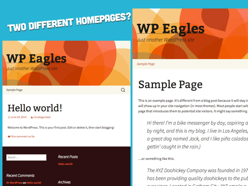 two different homepages?