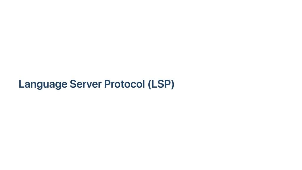 Language Server Protocol (LSP)