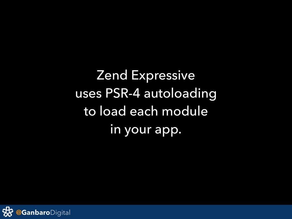 @GanbaroDigital Zend Expressive uses PSR-4 auto...