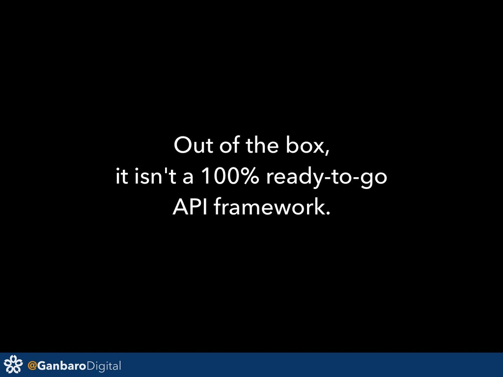 @GanbaroDigital Out of the box, it isn't a 100%...