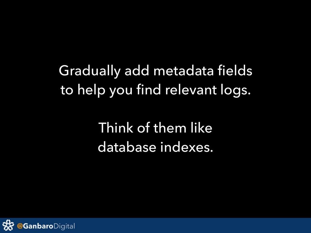 @GanbaroDigital Gradually add metadata fields to...