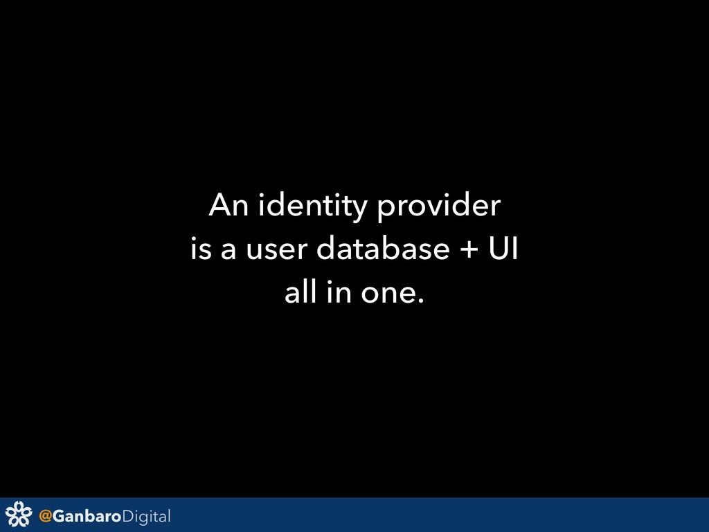 @GanbaroDigital An identity provider is a user ...