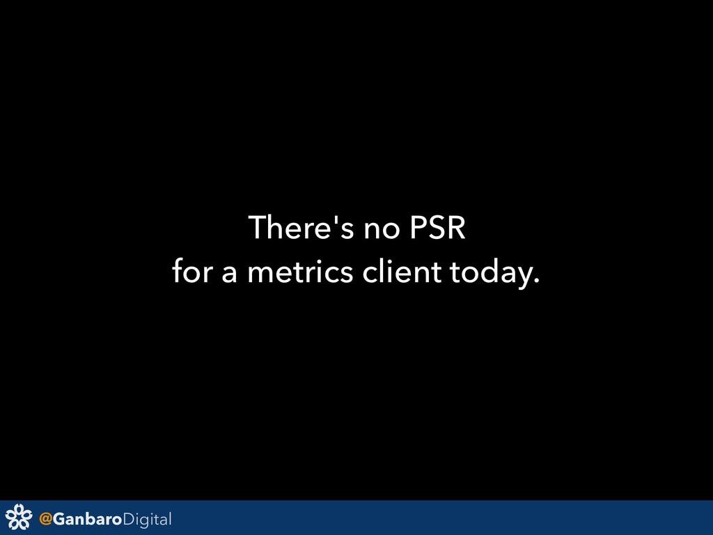 @GanbaroDigital There's no PSR for a metrics cl...