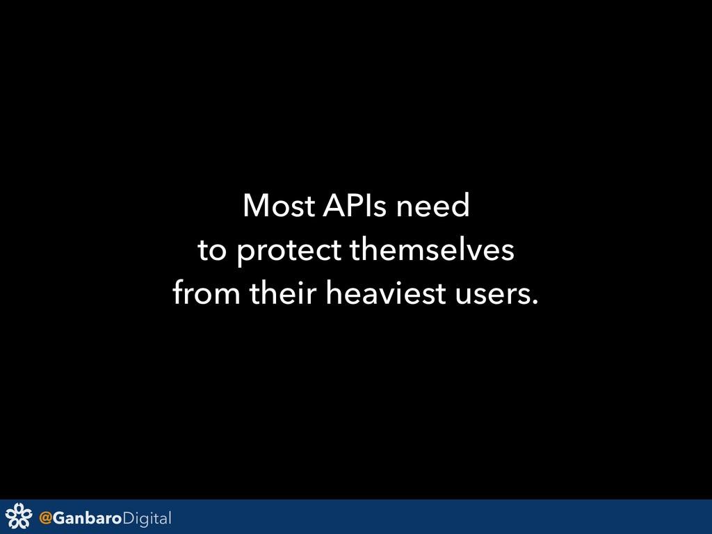 @GanbaroDigital Most APIs need to protect thems...